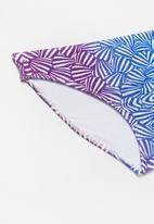 Rebel Republic - Shells two piece swimsuit - blue & purple