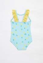 POP CANDY - Pineapple one piece swimsuit - turquoise