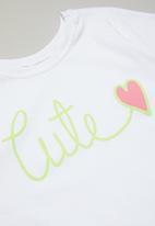 POP CANDY - Girls pyjamas set - white & aqua