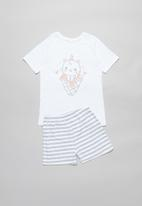 POP CANDY - Girls pyjamas set- white & grey
