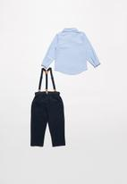 POP CANDY - Boys shirt & pants set - blue & navy