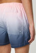 Brave Soul - Zantepkb swimshorts - pink & blue