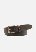 Tommy Hilfiger - Adan leather belt 3.5 - brown