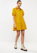 Blake - Button down mini dress - yellow