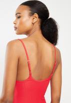Bacon Bikinis - Ally one piece - red