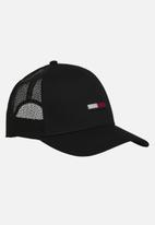 Tommy Hilfiger - Tommy jeans trucker flag cap - black