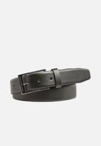 Tommy Hilfiger - Formal leather loop adjustable belt 3.5 - black
