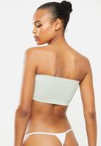 Cotton On - Seamfree rib bandeau - green tint texture