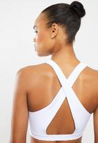 Cotton On - Workout cut out crop 2 pack - khaki texture & white texture