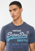Superdry. - Vl fade store tee - blue