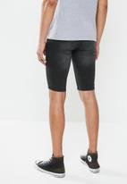 Factorie - Super skinny denim short - washed black