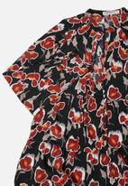 Glamorous - Petite floral tunic - black & rust