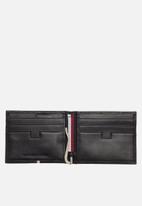 Tommy Hilfiger - Corporate mini leather money clip - black