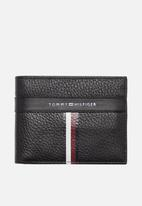 Tommy Hilfiger - Corporate leather mini wallet - black