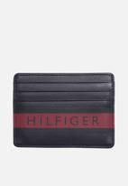 Tommy Hilfiger - Colour mix credit card holder - navy/tommy red