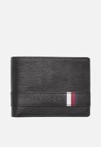 Tommy Hilfiger - Textured leather mini wallet - black