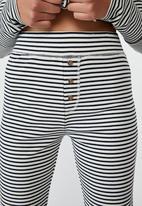 Cotton On - Waffle long john -simple stripe & navy