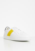 Jonathan D - J35 low sneaker - white & yellow