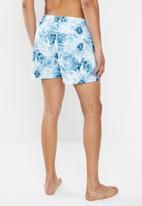 Brave Soul - Pilton swimshorts - blue & white