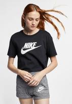 Nike - Nsw essential icon crop tee - black