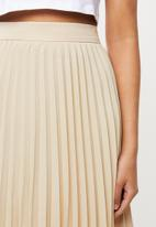 Blake - Satin pleated mini skirt - ivory