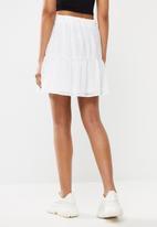 Blake - Chiffon tiered mini skirt - ivory