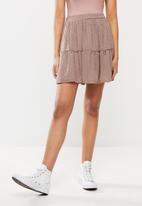 Blake - Chiffon tiered mini skirt - rose tan