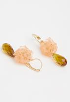 Superbalist - Flower drop earrings - orange