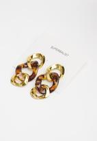 Superbalist - Briannalink earrings - gold & brown