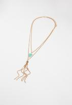 Superbalist - Tassel layered necklace - gold