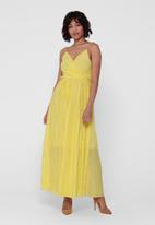 ONLY - Elema short sleeve maxi wrap dress - yellow