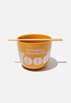 Typo - Novelty noodle bowl - orange