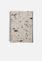 Typo - A4 campus notebook recycled - black & white
