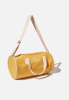 Typo - Canvas barrel bag - yellow