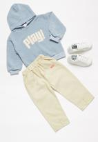 POP CANDY - Boys hoodie & pants set - blue & cream