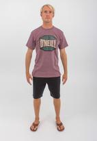 O'Neill - Trademark short sleeve tee - burgundy melange