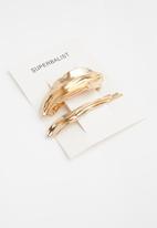 Superbalist - Leaf hair slide set - gold