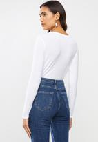 MANGO - T-shirt riboman - white