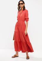 MANGO - Dress canyon - red