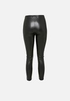 Missguided - Petite pintuck legging - black