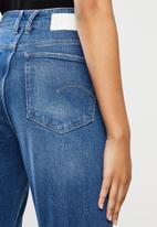 G-Star RAW - Janeh ultra high mom ankle jeans - blue