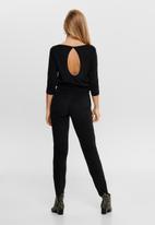 Jacqueline de Yong - Saki life 3/4 jumpsuit - black