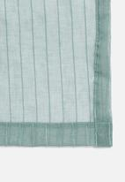 Sixth Floor - Eyelet striped frosted voile - teal blue