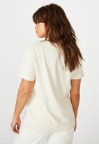 Factorie - Relaxed graphic T-shirt - washed ivory/skeleton hand heart