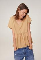 MANGO - T-shirt vikydoll - brown