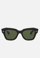Ray-Ban - State street sunglasses 49mm - black & green