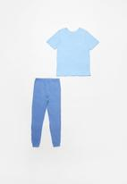POP CANDY - Boys tee & pants pj set - sky blue & denim