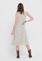 Jacqueline de Yong - Fiona short sleeve dress - beige & black
