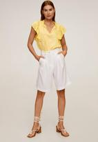 MANGO - Blouse fulplit - yellow