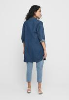 Jacqueline de Yong - Worker denim shirt - blue